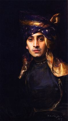 An Indian Prince, 1906, Philip Alexius de László,  Vienna.  [This is a Portrait of Vavamrao S. Pandit, grandfather of Jai Bhandarkar. (Mumbai).]