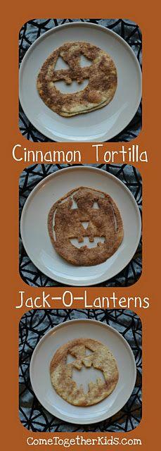 Jack o lantern tortillas!