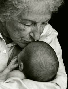 Grandma with baby grandson by Brittany L. Woodall