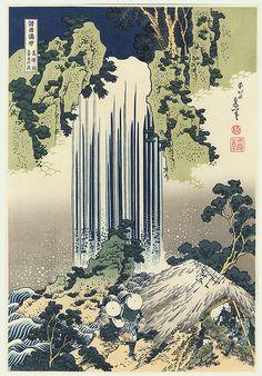 Yoro waterfall / Hokusai