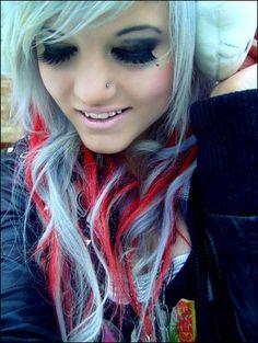 I just love white/platinum blonde hair.
