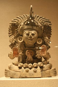 Funerary Urn with Seated Figure | Monte Alban 4-5th cent. zapoteca
