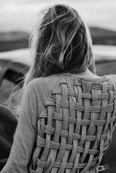 woven back shirt