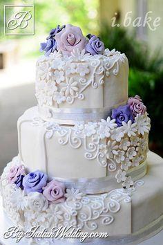 lavender roses cake
