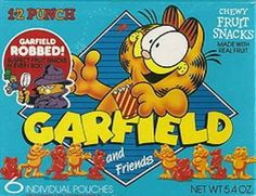 Garfield and Friends Fruit Snacks   19 Cartoon-Themed Foods And Snacks From The '90s You Might Not Remember