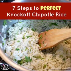 Perfect chipotle knock off rice. YUM.