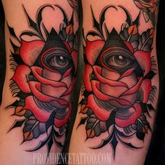 Eye of Providence done by Dennis M Del Prete at #providencetattoo #tattoo #rose