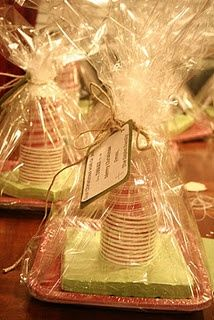 """Neighbor Gift. """"Our Christmas wish to you, less dishes to do."""" What an awesome gift!"""