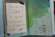 Seriously THE BEST use of a smashbook ever....  lowercase letters: i made a book :: scripture scraps