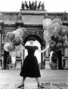 funny face #audrey #hepburn #funny face #balloon #movie #cinema
