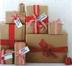 Simple Christmas wrap