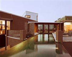 modern exterior by WA design - view from the infinity edge pool is next -