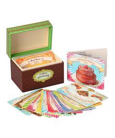 Loving this Chocolate Vintage Recipe Box on #zulily! #zulilyfinds