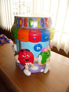 SEALED M&M CANDY BAR COOKIE JAR GALERIE M&Ms AROUND COUNTER