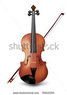 Violin Tattoo Designs | Violin Isolated On White Vector - 70910050 : Shutterstock