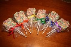 Rainbow Trix Treat Pops