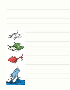 Free Printable Dr. Seuss Stationary