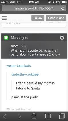 Panic! At The Party... Santa really needs to know