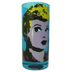luci stuff, pop art, drinking, glass, kitchen accent, gift blue, popart, blue luci, kitchen stuff