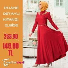 Puane Detaylı Kırmızı Elbise 259 TL yerine 149TL http://bit.ly/1pcBbzA satın almak için hemen tıklayın!