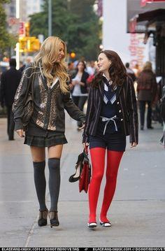 Blair Waldorf makes me want red tights