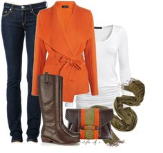 """Colors of Fall"" by styleofe on Polyvore"