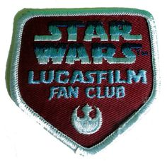 vintage STAR WARS patch LUCASFILM Fan Club by VintageTrafficUSA, $4.99