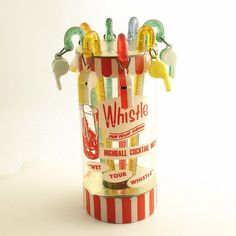 Eight vintage swizzle sticks. Whistle for your Drink cocktail mixers ...