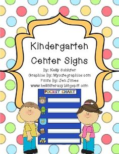Kindergarten Station Signs (All Subjects)
