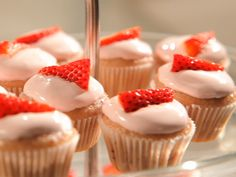 Blushing Strawberry Cupcakes from FoodNetwork.com