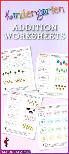 Free worksheets to help your child learn basic counting and addition skills by identifying which two numbers add together to equal a specific number.