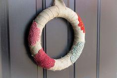 DIY doily wreath doili wreath, diy doili