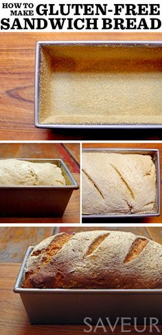 homemade gluten-free sandwich bread