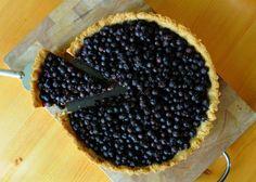 Spiced Saskatoon Berry Tart