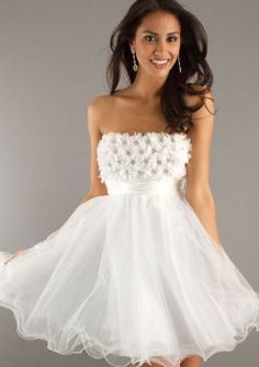Short Strapless Prom Dress
