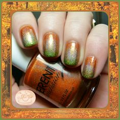 LOVE THIS!!! Autumn/Thanksgiving Gradient Nail Art | Pointless Cafe