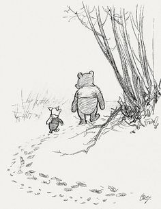 Beautiful illustration. The original Winnie the Pooh