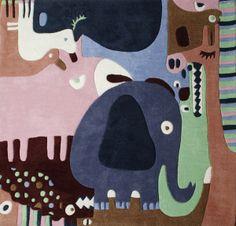 // Animal puzzle rug