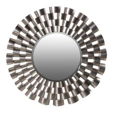 Are you looking for a modern art deco wall mirror?    Then you have found it with this eye catching silver mirror.    With its large diameter you only need to decide which pride of place this amazing modern mirror should be displayed.