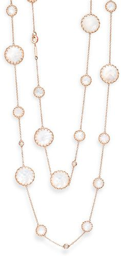 IVANKA TRUMP Rose Gold Long Station Chain Necklace