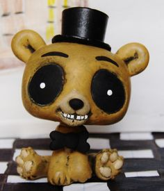 Golden Freddy FNAF Five Nights at Freddy's OOAK custom figure Bear ...