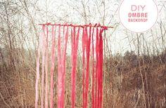 DIY - ombré fabric backdrop