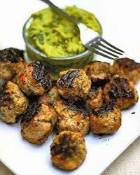 Spiced Pork Meatballs with Guacamole | Guacamole and meat balls, an ...