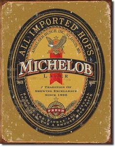 Michelob Logo Tin Sign, $8.95