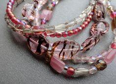 Pink Strand Bracelet   Bead Soup Jewelry  by BeadSoupJewelry, $32.00
