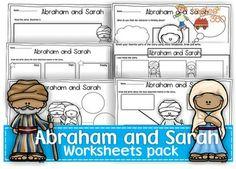 Abraham and Sarah worksheets pack 4.00