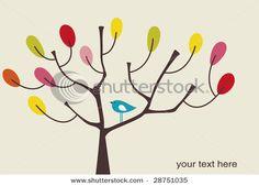 stock vector : vector bird and tree