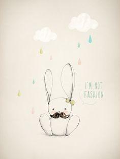 Cute DIY eraser stamps rabbit, fashion, laffich modern, illustrations, art, alin caron, lapin, print, kid