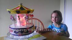 Coolest My Little Pony Carousel Cake... This website is the Pinterest of birthday cake ideas