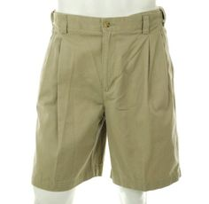 Izod Solid Pleated Front Shorts